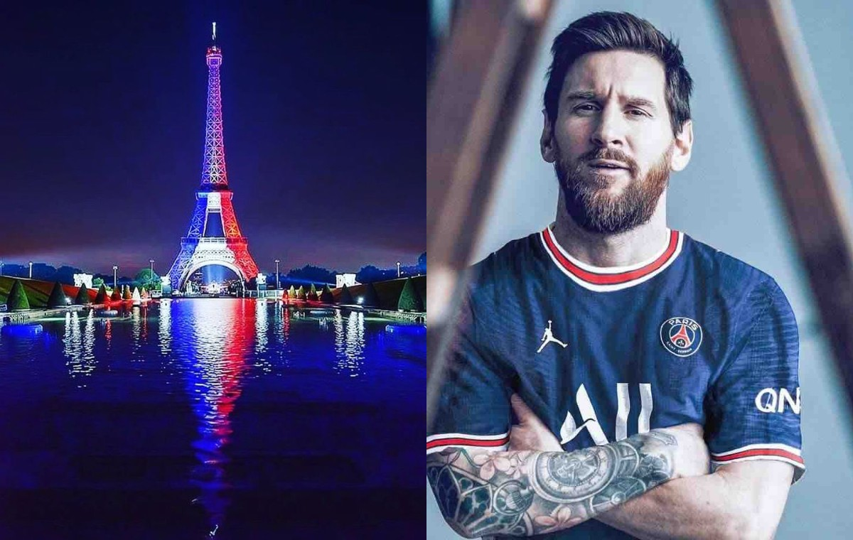 The Eiffel Tower has been rented out for the launch event of Lionel Messi